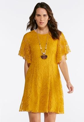 e05dcb3d062 Cato Fashions Paisley Lace Fit And Flare Dress In Both Colors  Golden  Yellow   Navy. Cato Fashions Plus Size ...