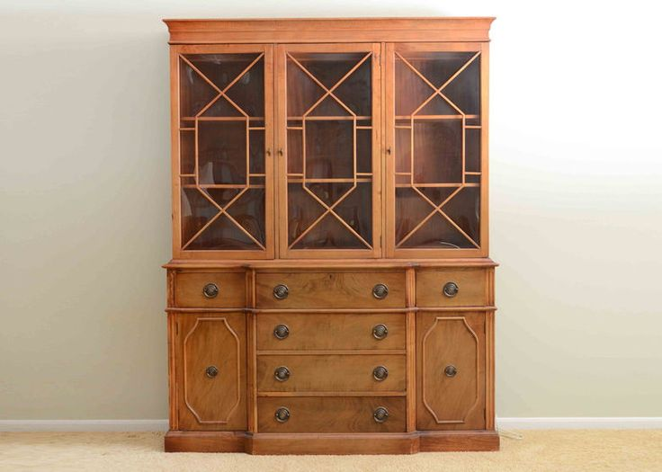 Great A Saginaw China Cabinet In A 1930s Federal Style From The Saginaw, MI  Furniture Company