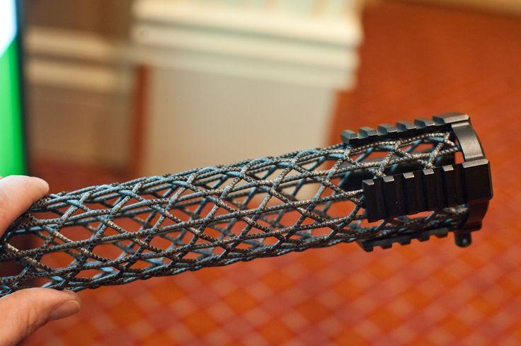 SHOT16: Brigand Arms Carbon Fiber Braided Handguard   Just 3 oz. image