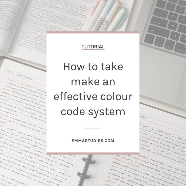 emmastudies how to create a colour code for notetaking and studying