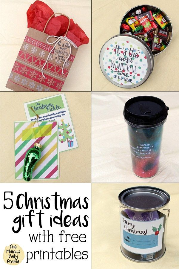 Christmas gift ideas with free printables from One Mama's Daily Drama // Gift tags, stickers, and more fun holiday ideas #OrientalTrading #Christmas