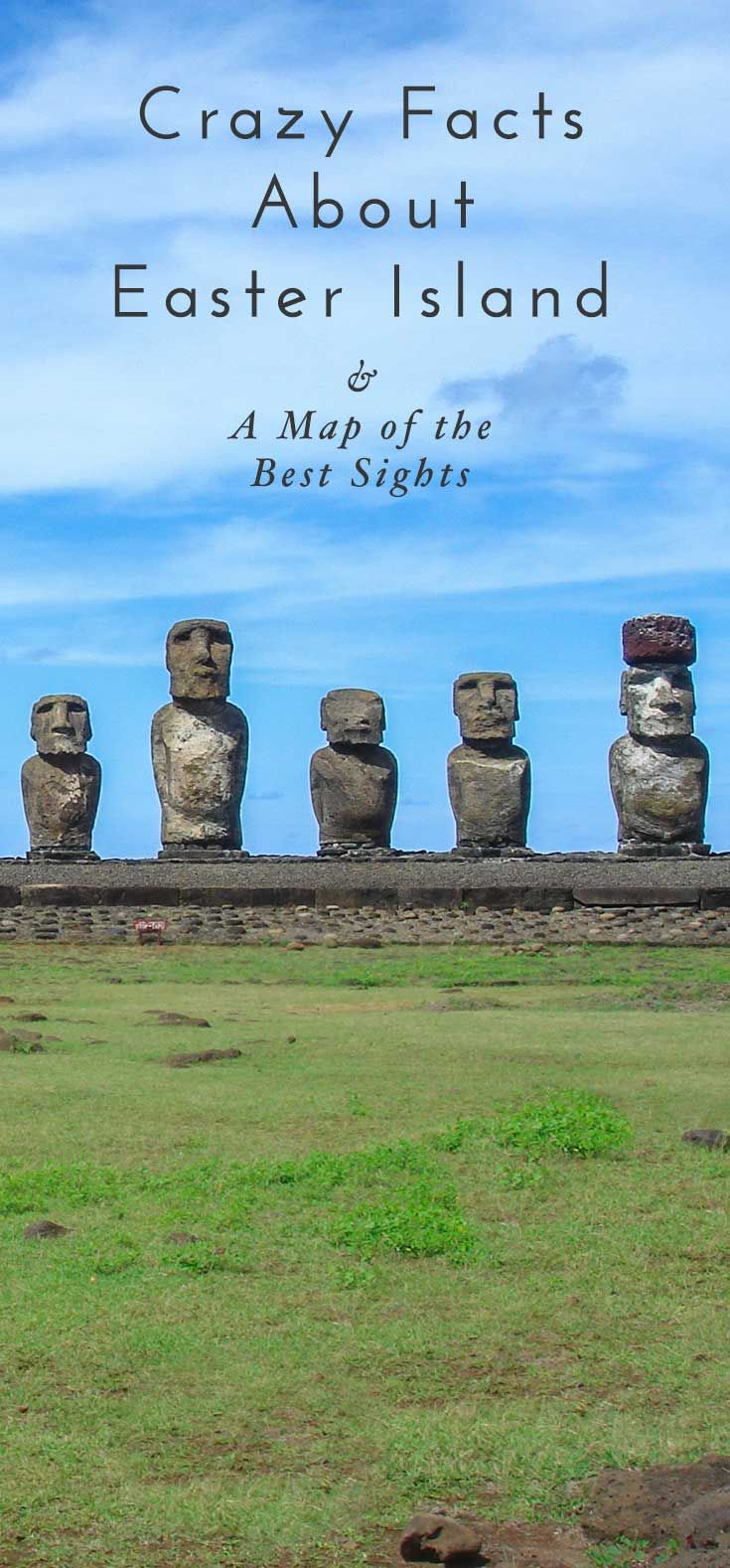 Amazing travel facts about Easter Island (Rapa Nui) as well as details on how to get to Easter Island. Planning a trip? Download the free map with all the best things to do and see on Easter Island! Click through for more photos and crazy facts!