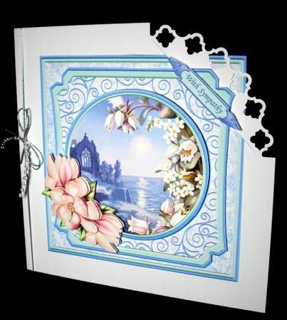 TRANQUIL OCEAN Sympathy Card Topper Quick Decoupage on Craftsuprint designed by Janet Briggs - made by Dianne Jackson