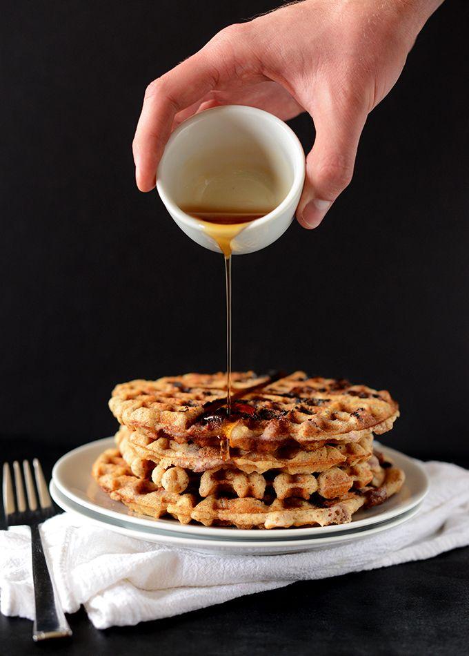 GF Vegan Lemon Blueberry Waffle Recipe