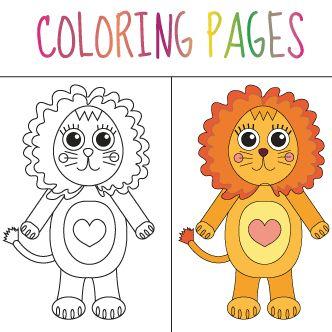 León para colorear