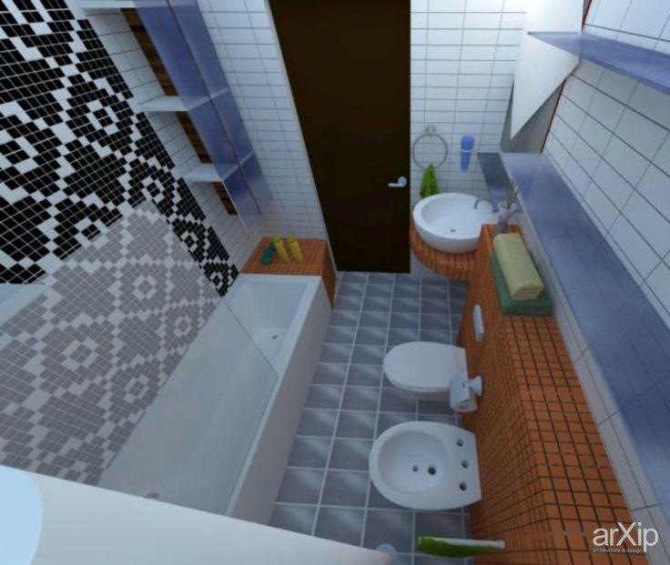 Ванная в современном стиле: интерьер, квартира, дом, санузел, ванная, туалет, современный, модернизм, 0 - 10 м2, стена #interiordesign #apartment #house #wc #bathroom #toilet #modern #010m2 #wall