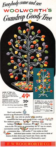 Woolworth Gumdrop Goody Tree FOR CHRISTMAS Birthday COME & SEE 1950 Magazine Ad | eBay