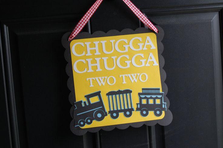 Train Door Sign, Train Party, Train Party Supplies, Choo Choo, All Aboard, Happy Birthday, Chugga Chugga. $12.00, via Etsy.