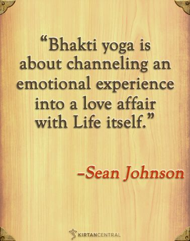 Sean Johnson on bhakti yoga. www.kirtancentral.com