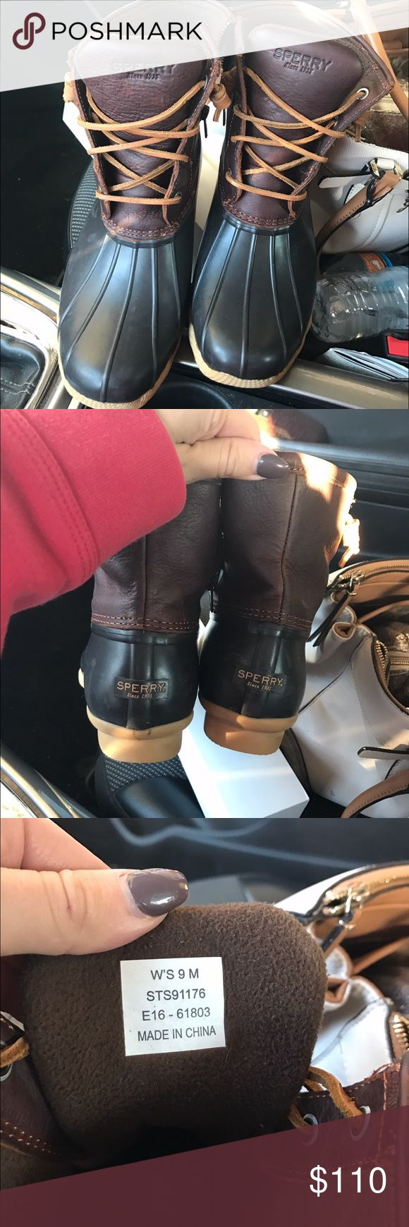 Women's Sperry Duck Boots Women's Sperry Duck Boots.     ----ON MERC FOR CHEAPER! Sperry Shoes Winter & Rain Boots