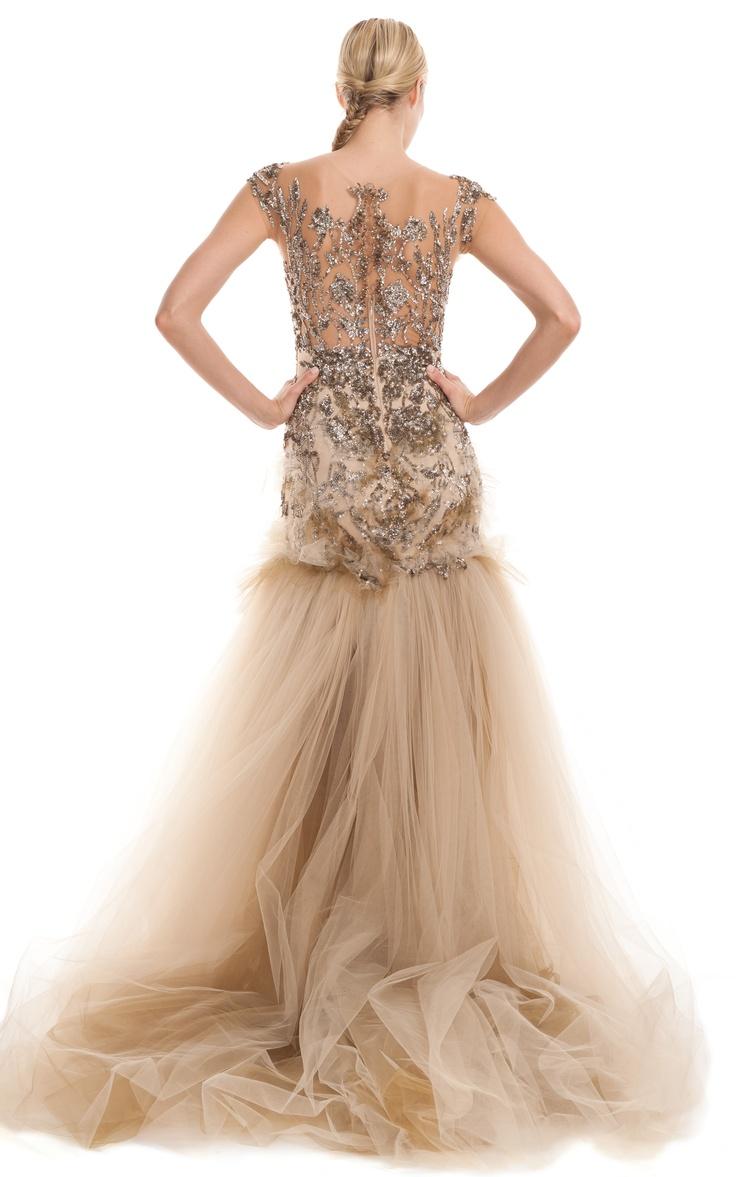 ✜  Marchesa Fall/Winter 2012  ✜ http://modaoperandi.com/marchesa/fw-2012/rtw-471/looks/: Pink Wedding, Navy Ball, Fallwinter 2012, Romantic Wedding, Fall 2012, Cap Sleeve, Marchesa Fall, Beautiful Gowns, Bridal Wedding Dresses