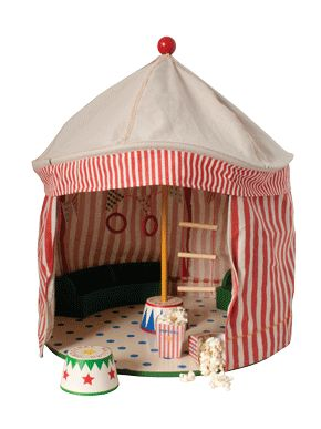 circus tent with podium from Pink Olive