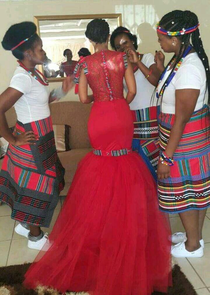 Gorgeous Venda bridal team