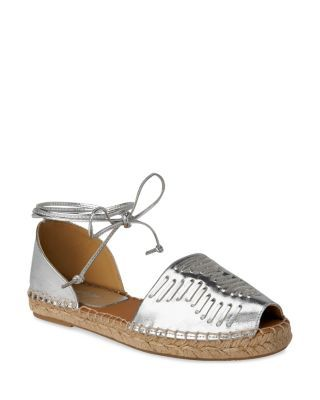 WHISTLES Syon Woven Ankle Tie Espadrille Flats. #whistles #shoes #flats