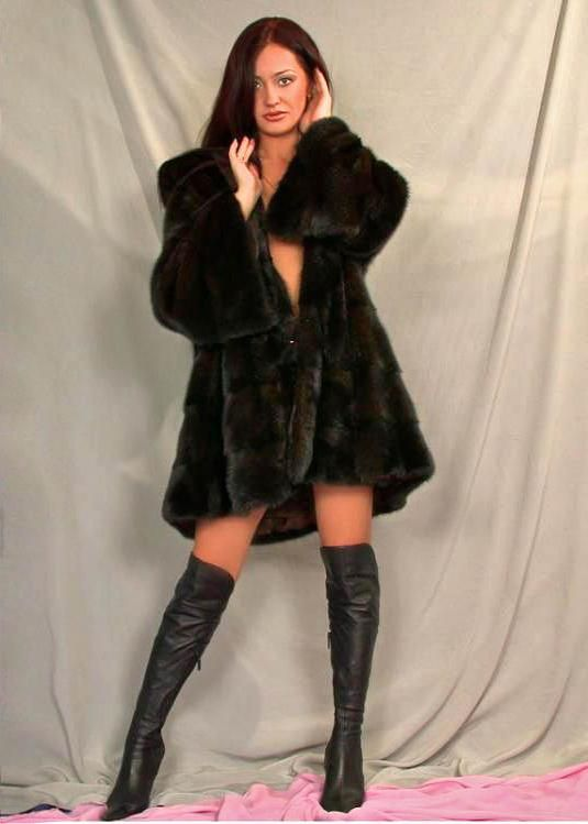 Sable Fur Jacket & Long Leather Boots
