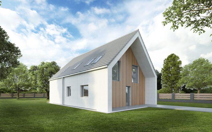 Investor nepožadoval garáž, což nám umožnilo i při malé zastavěné ploše navrhnout velkorysé vnitřní prostory. Parkovací stání je řešeno na zpevněné ploše před domem. Dům je navržen v nízkoenergetickém standardu.
