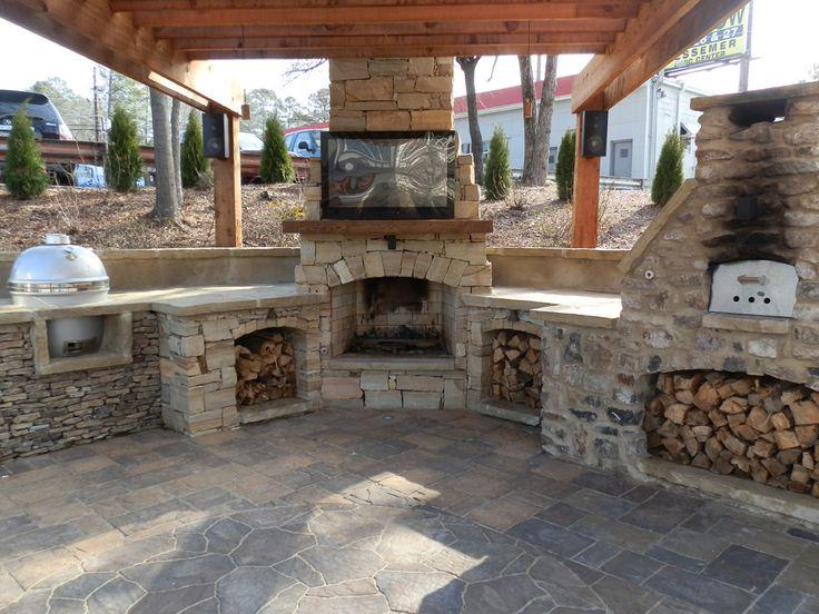 DIY Outdoor Fireplace Plans - 17 Beste Ideeën Over Outdoor Fireplace Plans Op Pinterest