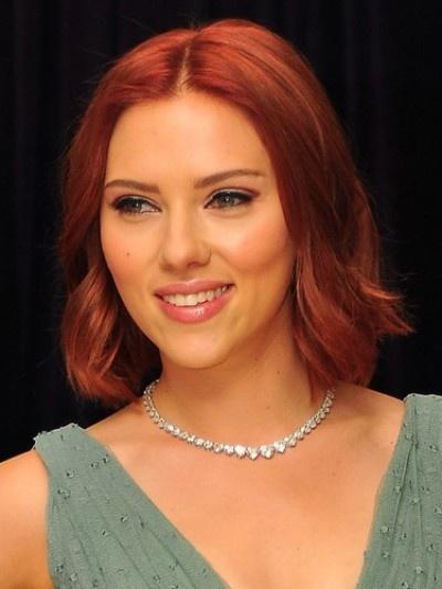 Scarlett Johansson Red Hair Magazine