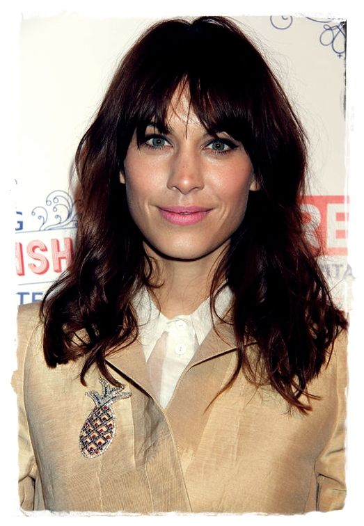 Celebrity Inspired #Hairstyles - Alexa Chung Bedhead Bang