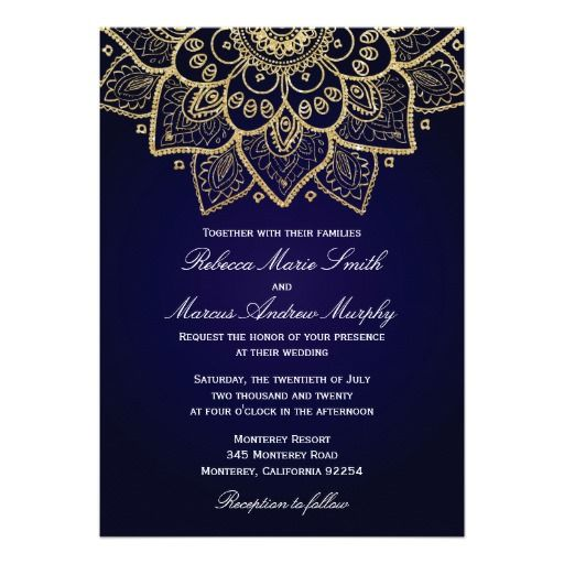 Elegant Gold Indian Invitation