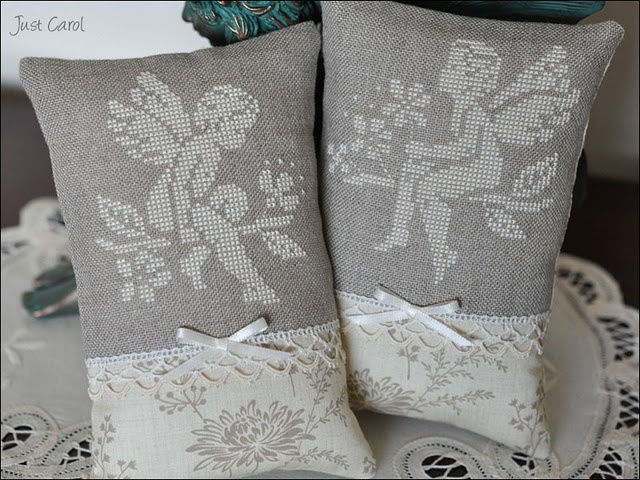 'Two Little Angels' Linen Cushions