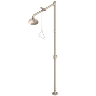 Acorn S2300-AS Pedestal Mounted Drench Shower All Stainless Steel  http://www.eyewashdirect.com/Acorn-S2300-AS-Safety-Shower-Eye-Wash-Station-p/s2300-as.htm