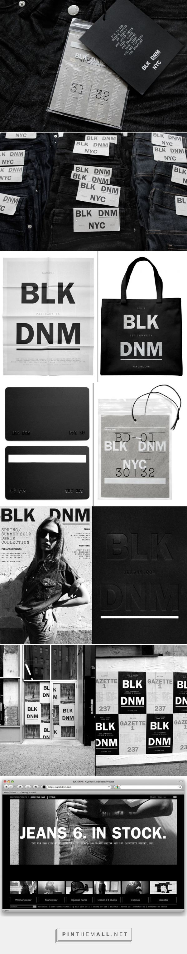 BLK DNM branding by Triboro Design »  Retail Design Blog - created via http://pinthemall.net