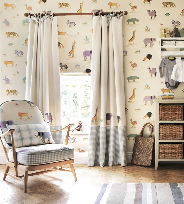 How to Style | Nurseries | Two by Two Wallpaper by Sanderson | Jane Clayton