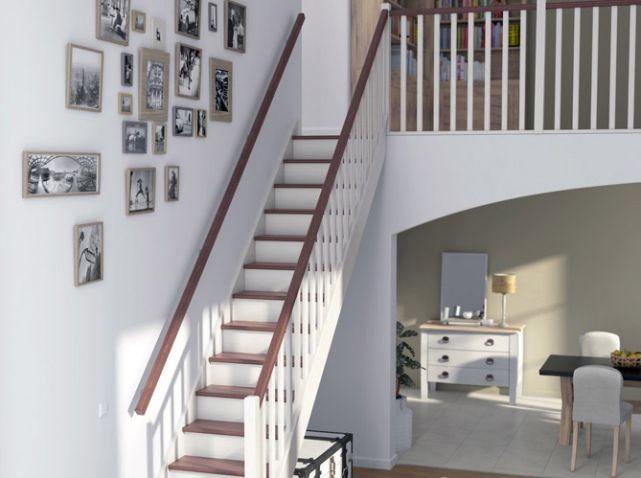 deco entree et montee d'escalier   Un escalier avec deux rampes