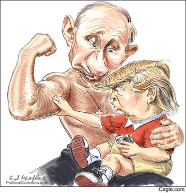 Wanna feel daddy's muscle, Trumpy...