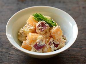 柿とさつまいもの白和え | Happy Recipe(ヤマサ醤油のレシピサイト)