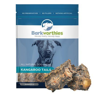 Barkworthies All Natural Kangaroo Tails Chewable Digestible Pet Dog Chew Treats