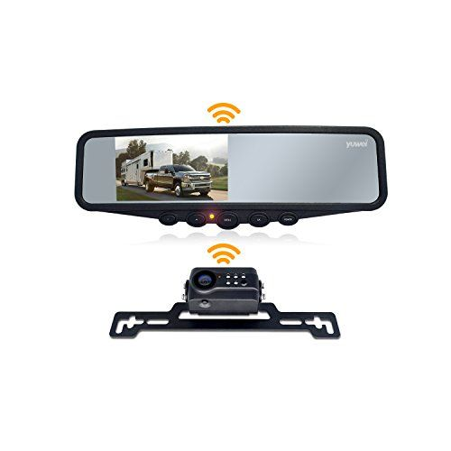 Heavy Duty Vehicle Truck Bus Backup Camera System,Waterproof night vision Rear View Camera with 7 inch Monitor+66ft 4 Pin Camera Cable for Bus Truck Van Trailer RV Campers(12V 24V)