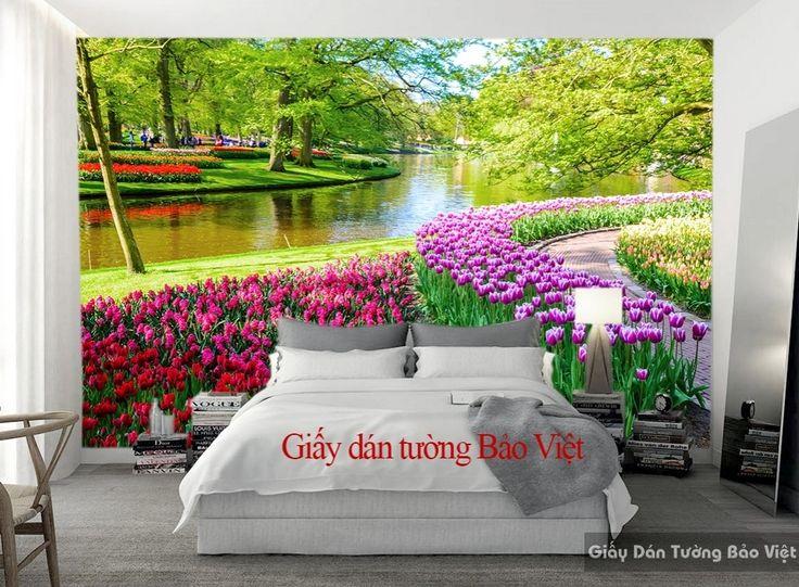 Giấy dán tường phong cảnh cho phòng ngủ Fi035 | Giấy dán tường Bảo Việt