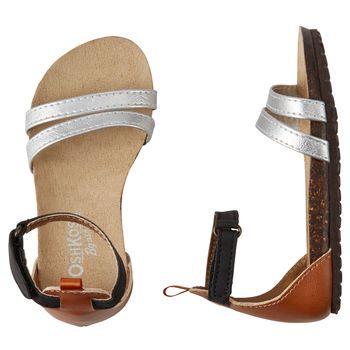 OshKosh Silver Strappy Sandals