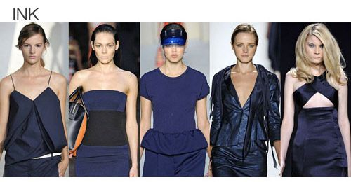 Top color. Womens Spring 2012 trend report, ink