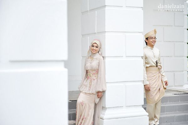 bride and groom wedding outfit, malay