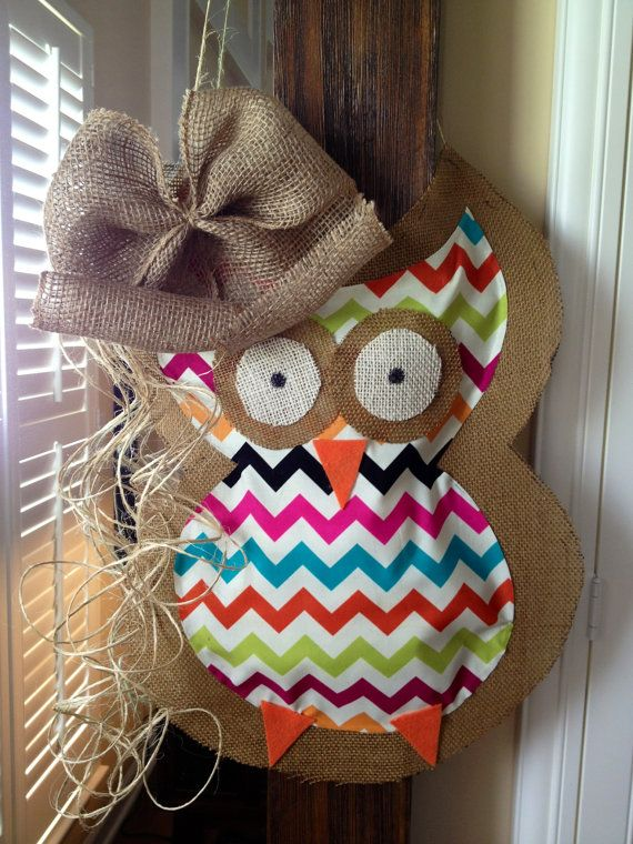 Owl Door Hanging Decoration  Wreath  Baby by LoveyDoveyBabies