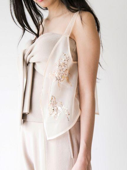 ニットベアトップ(チューブトップ・ベアトップ) snidel(スナイデル) ファッション通販 ウサギオンライン公式通販サイト