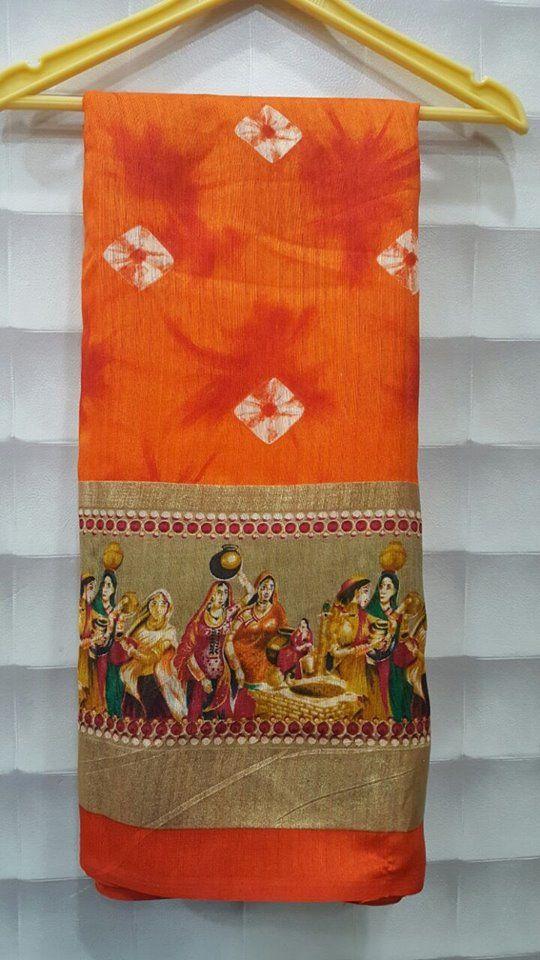 Latest Bhagalpuri With Bandhini Print Sarees   Buy Online Sarees   Elegant Fashion Wear