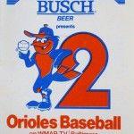 Busch-sponsored Baltimore Orioles schedule, 1980 #beer #baseball