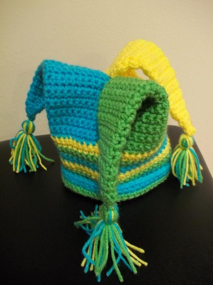 Free Crochet Joker Hat Pattern : Free Crochet Jester Hat Patterns Tattoo