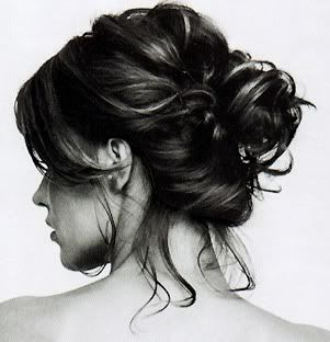 Love this too...    #updo #casual #pretty #brunette