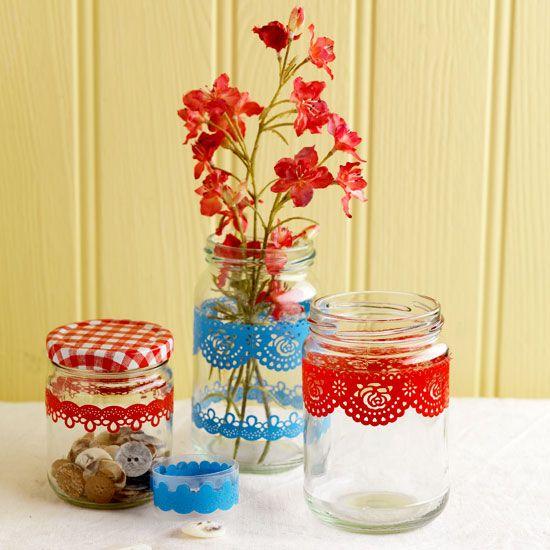 Craft Ideas Empty Jam Jars: 1000+ Images About Jam Jar Decorations On Pinterest
