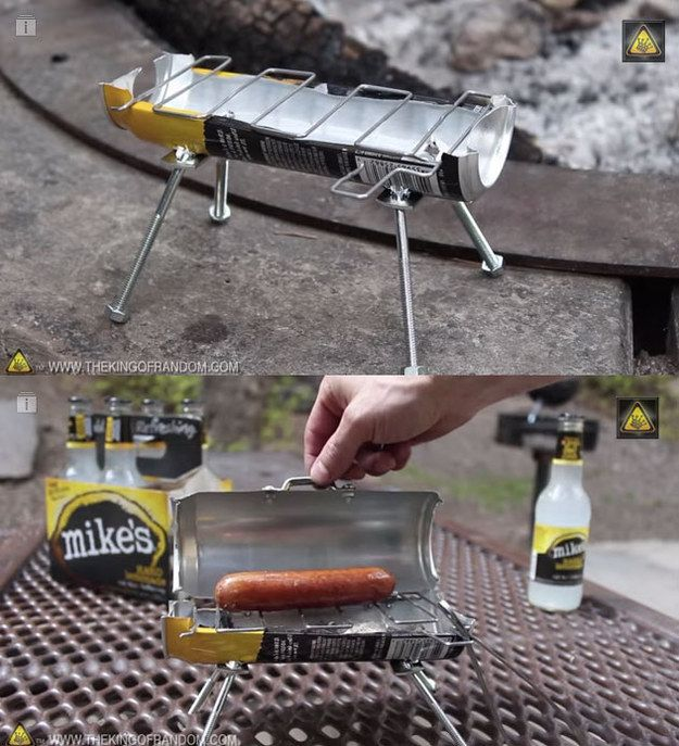 I'm sorry, but this is pure genius!! The inventor of this tiny beer can grill: | 17 BBQ Heroes Who Changed Grilling Forever