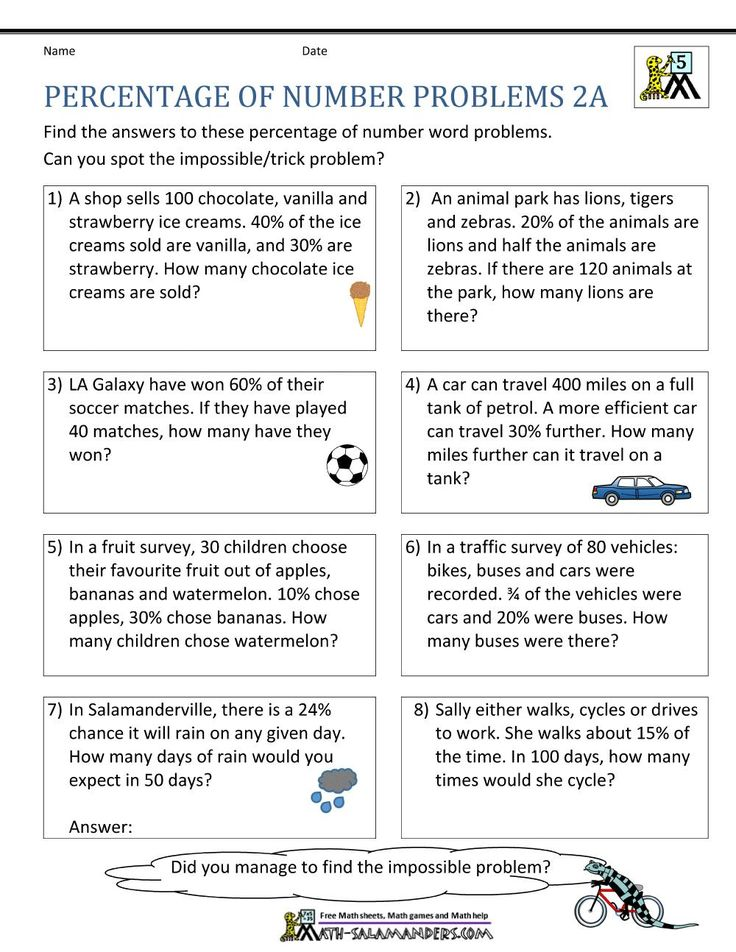 Free Printable Math Worksheets On Percentages 7 in 2020
