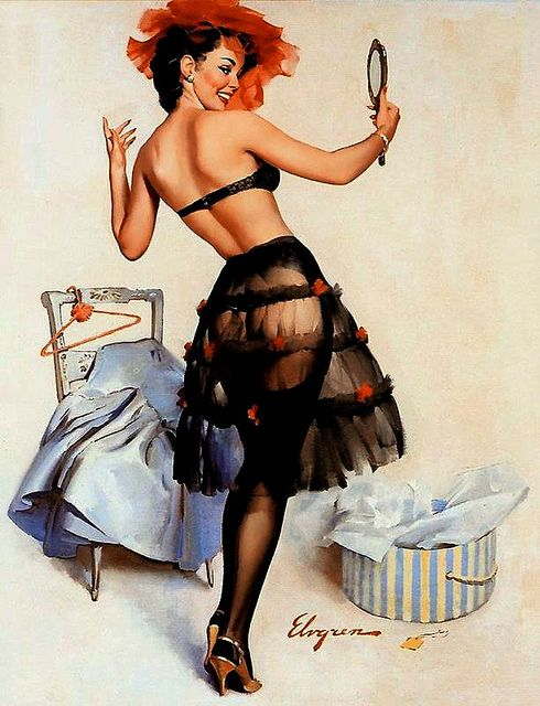 Gil Elvgren ❥|Mz. Manerz: Being well dressed is a beautiful form of confidence, happiness & politeness