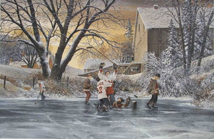 "Christmas is about celebrating some of your greatest memories,the kind that warm you up on even the coldest days.Today's gift inspiration is for the hockey lover in your life.Give him or her this beautiful limited edition framed print of ""Remember the Goal"" by Doug Laird;it's numbered & signed by the artist.Paul Henderson,member of Team Canada & winning goal scorer of the '73 Summit Series,also signed this.Merry Christmas to all you hockey fans!Thanks for being a part of what makes Canada…"
