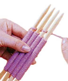 Stick weaving is an inexpensive and traditional way to weave. The sticks are simply held in one hand while you weave the fibers around the sticks with your other hand. You can weave a wide variety of fibers using from 2-6 sticks creating various widths of woven design. There are six fine weaving sticks in the package along with a tapestry needle for hiding thread ends and joining seams. Instructions are included.