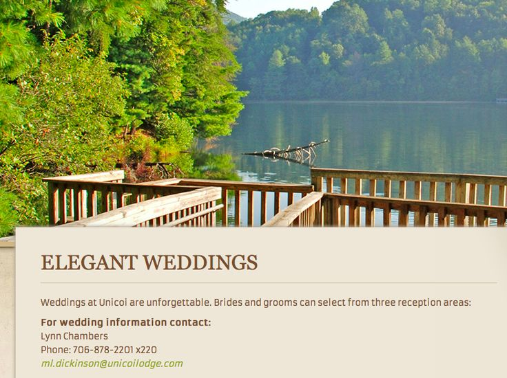 Unicoi State Park In Alpinehelen Offers Many Beautiful Locations For A Wedding